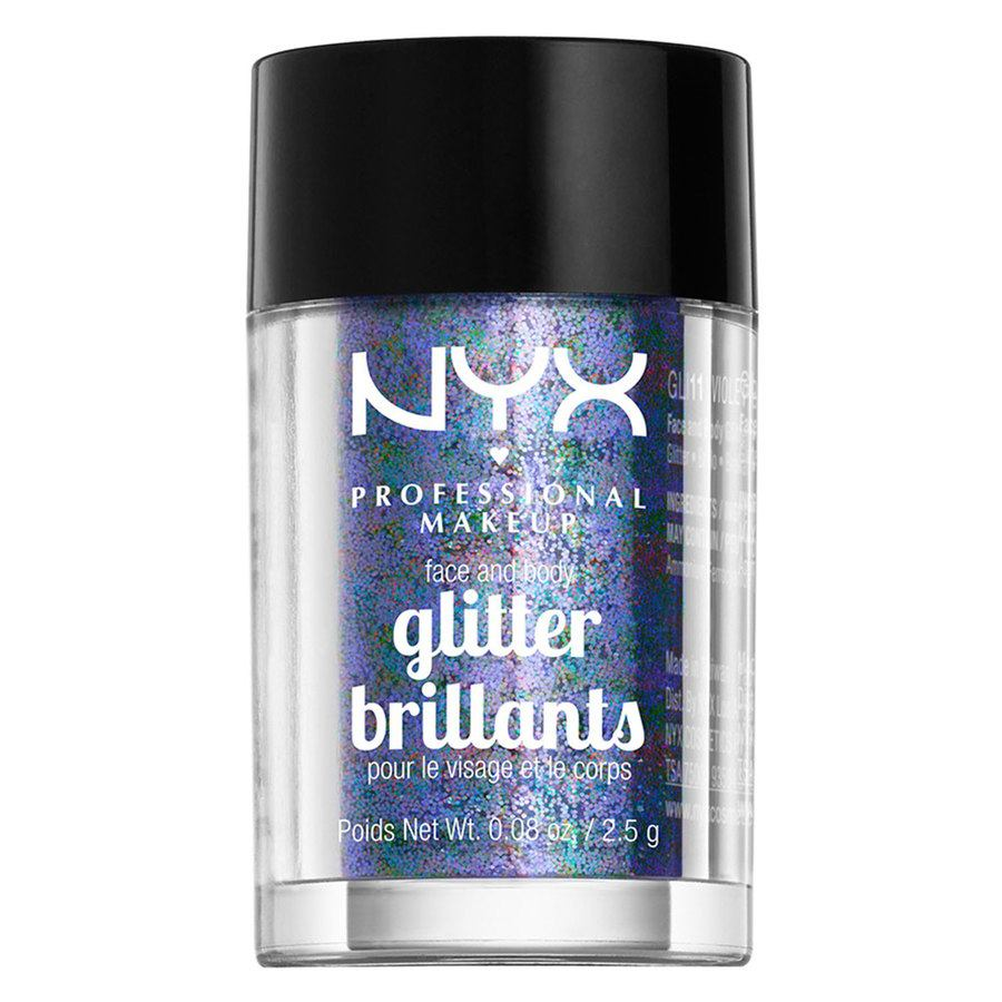 NYX Professional Makeup Face And Body Glitter, Violet GLI11
