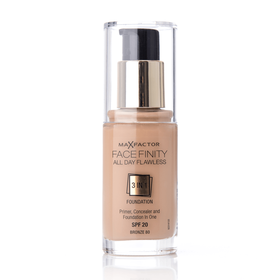 Max Factor Facefinity 3 In 1 Foundation (30 ml), 80 Bronze