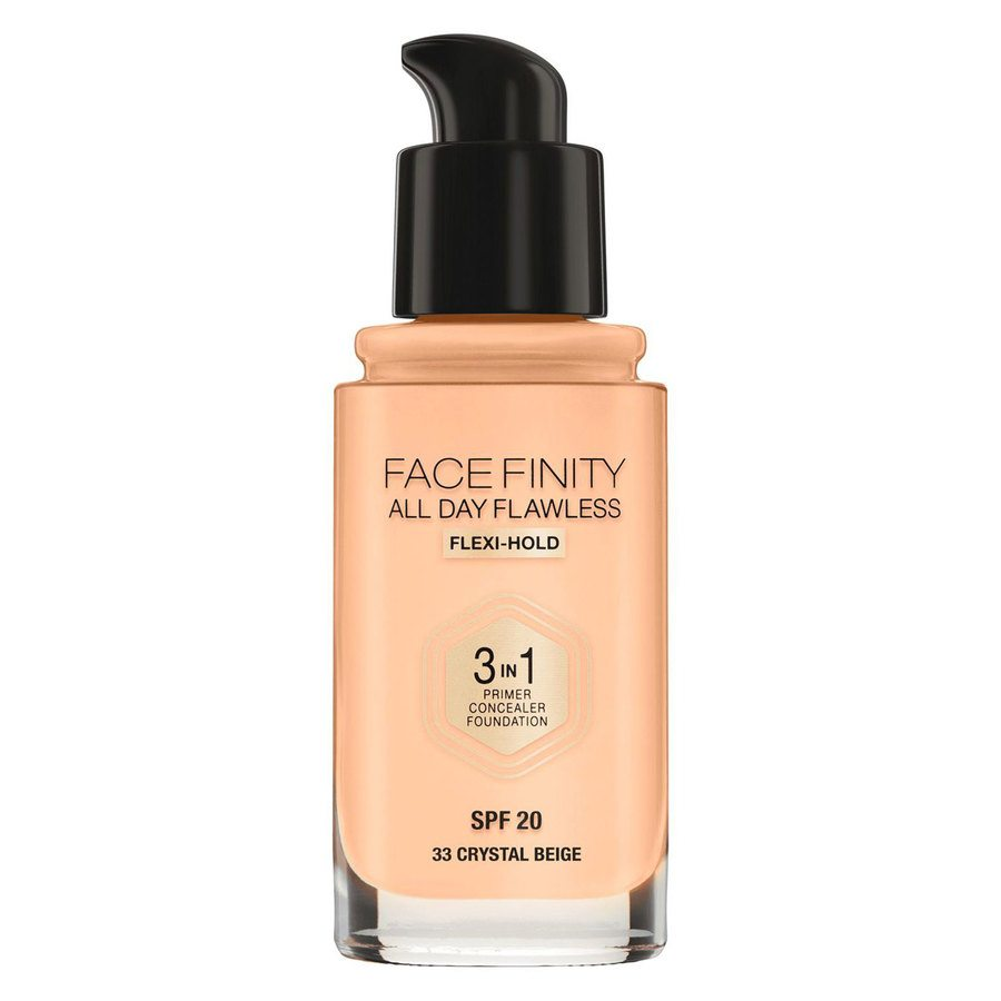 Max Factor Facefinity All Day Flawless 3-In-1 Foundation, #33 Crystal Beige (30 ml)