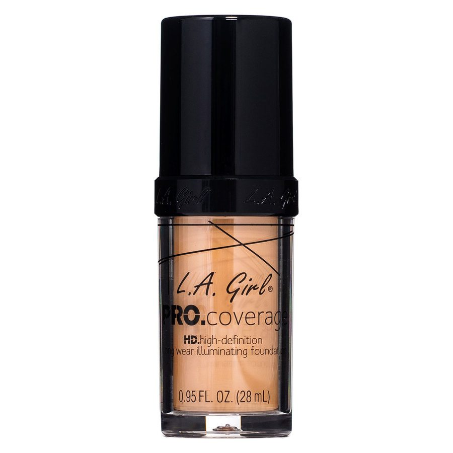 L.A. Girl Pro Coverage Illuminating Foundation, GLM647 Warm Beige