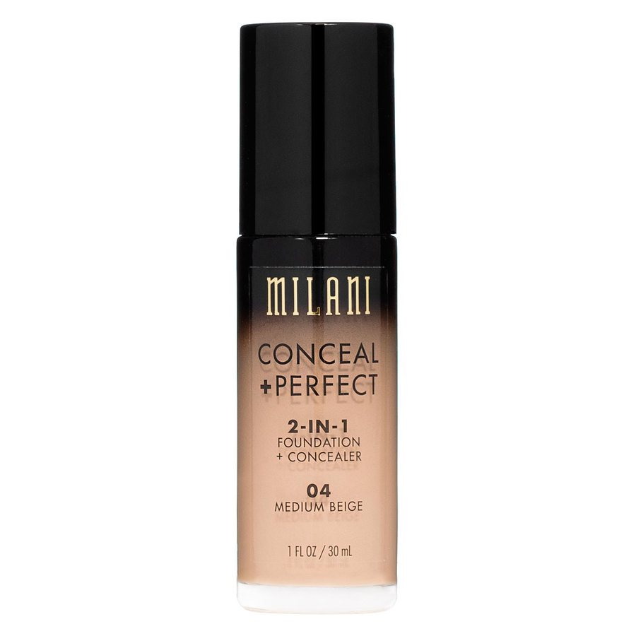 Milani Conceal & Perfect 2-In-1 Foundation + Concealer, Medium Beige (30 ml)