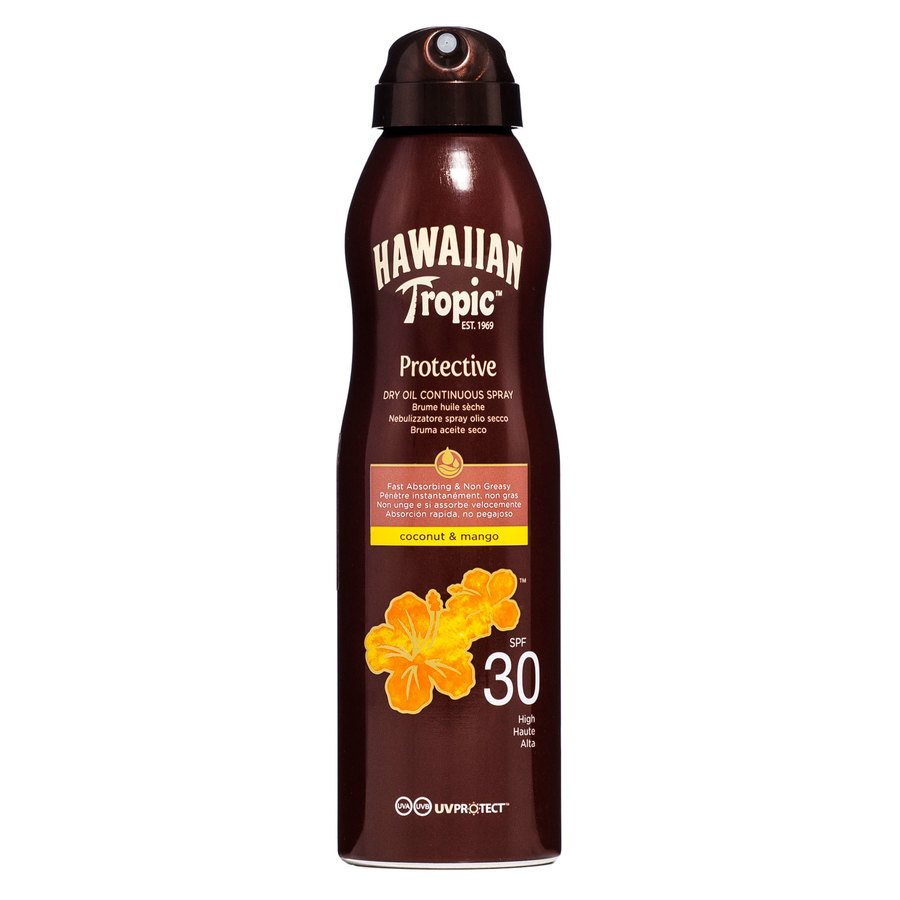 Hawaiian Tropic Protective Dry Oil Continuous Spray LSF 30 180ml