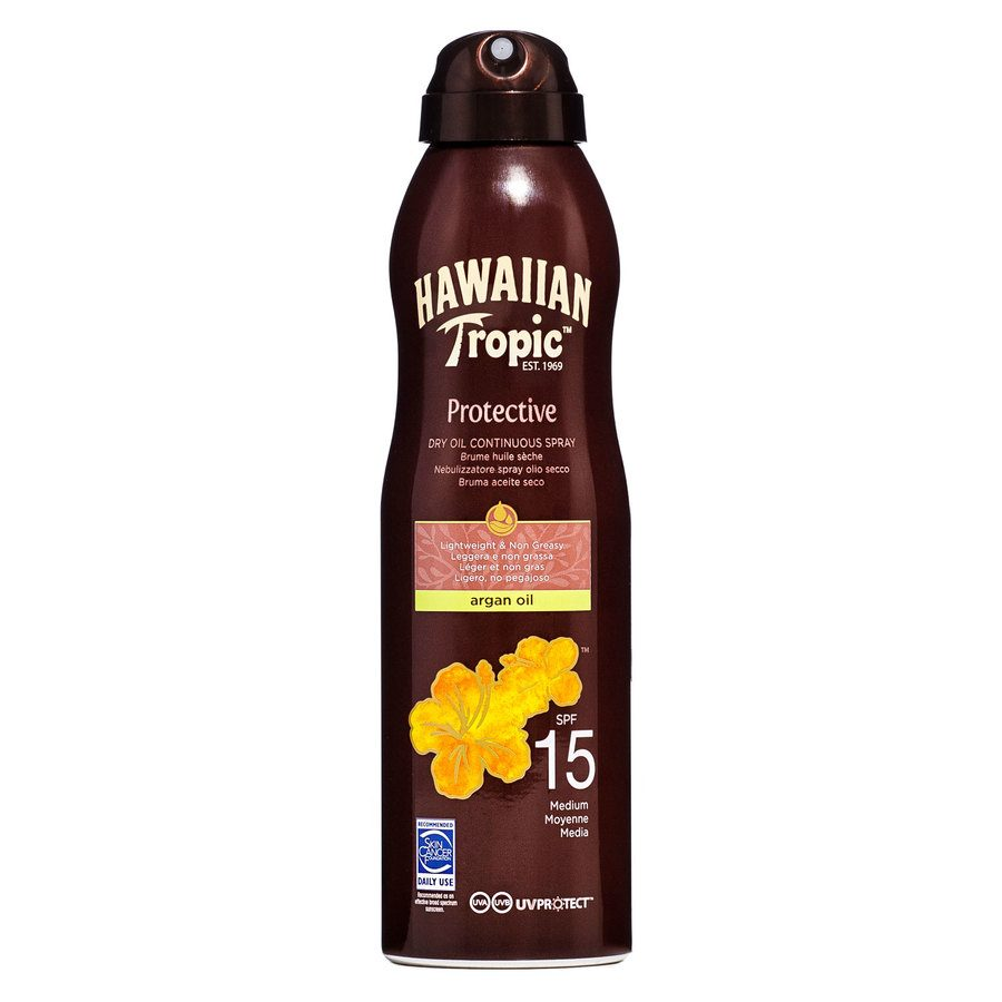 Hawaiian Tropic Protective Dry Oil Continuous Spray LSF 15 (177 ml)