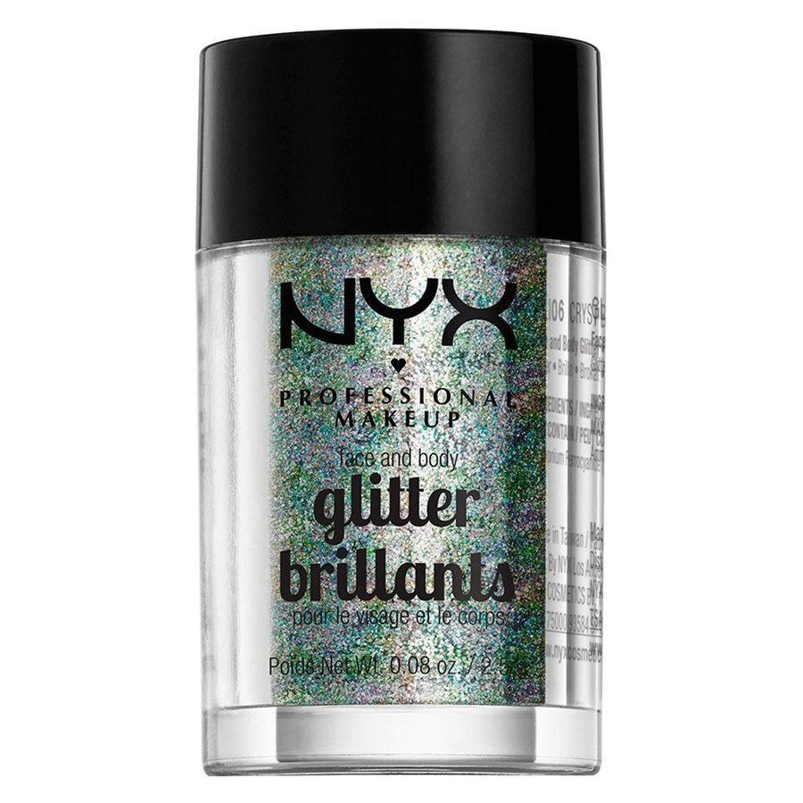 NYX Professional Makeup Face And Body Glitter Brilliants, Crystal GLI06 (2,5 g)