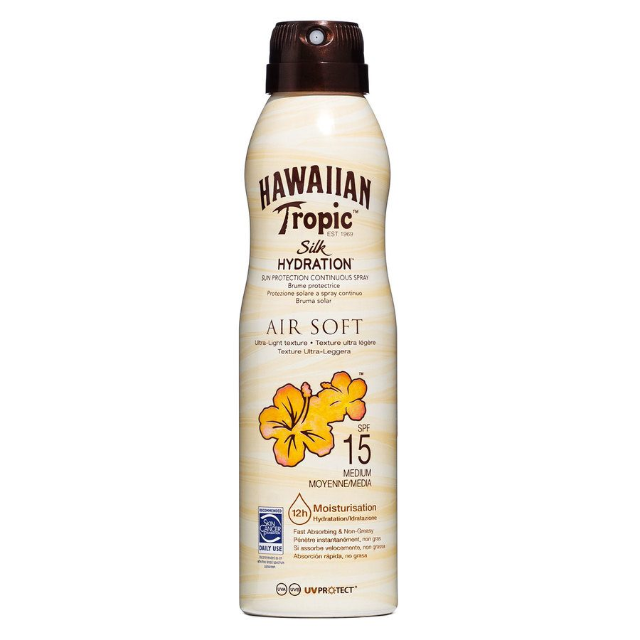Hawaiian Tropic Air Soft Dry Oil Continuous Spray LSF 15 (177 ml)