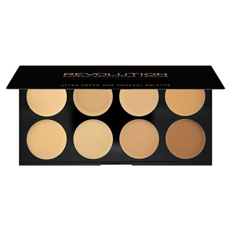 Makeup Revolution Ultra Cover and Concealer Palette Light Medium 10g