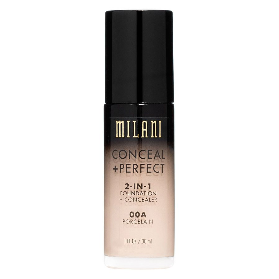 Milani Conceal & Perfect 2 In 1 Foundation + Concealer, Porcelain