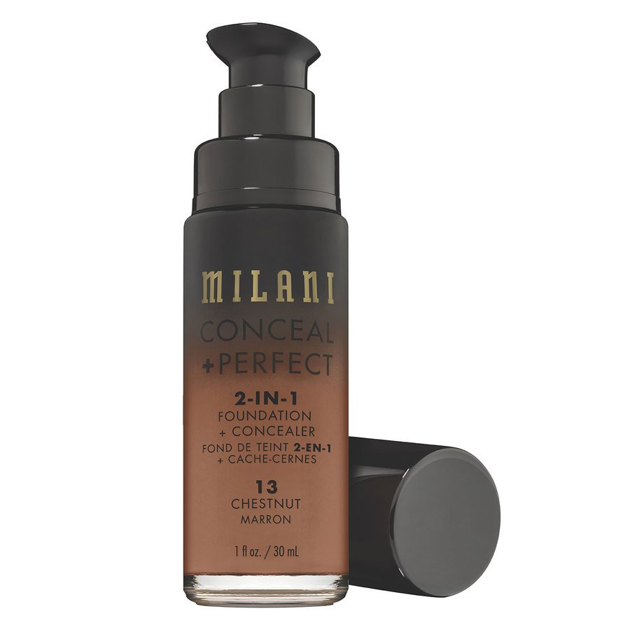Milani Conceal & Perfect 2 In 1 Foundation + Concealer, Chestnut (30 ml)