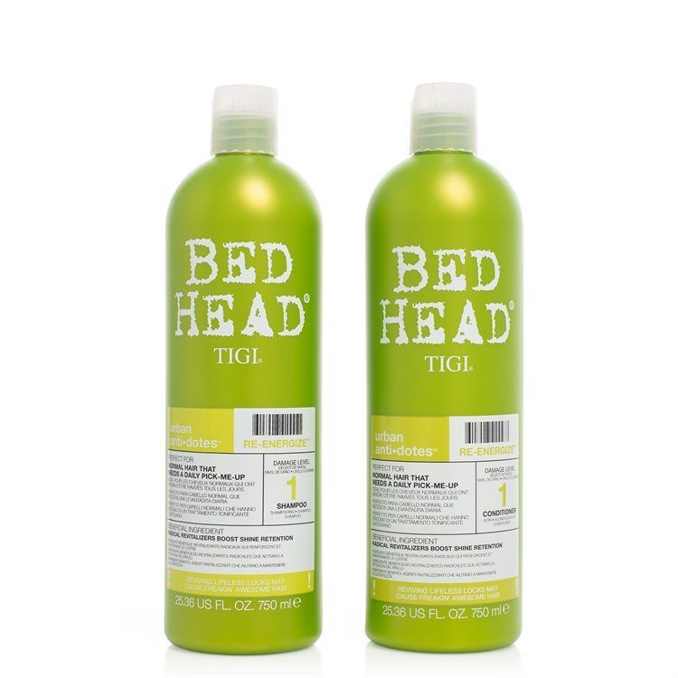 TIGI Bed Head Urban Antidotes Re-Energize Shampoo & Conditioner (2 x 750 ml)