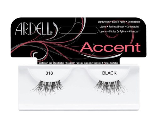 Ardell Accent Fashion Lashes, 318 Schwarz