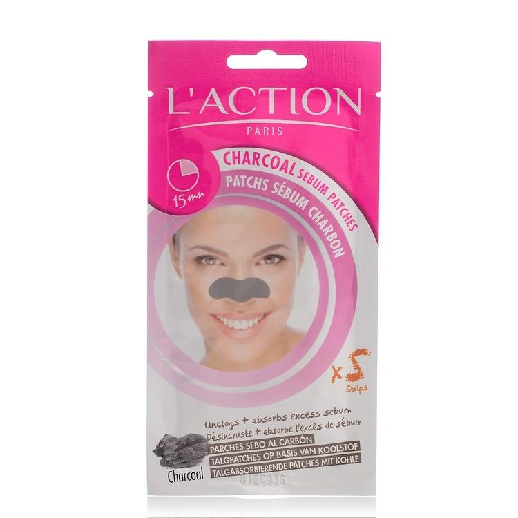 L'Action Paris Charcoal Sebum Patches 5stk