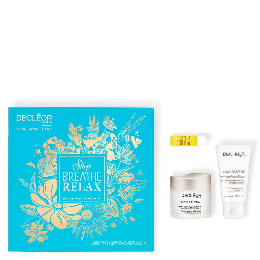 Decléor Stop Breathe Relax Hydration Kit Hydra Floral Giftset