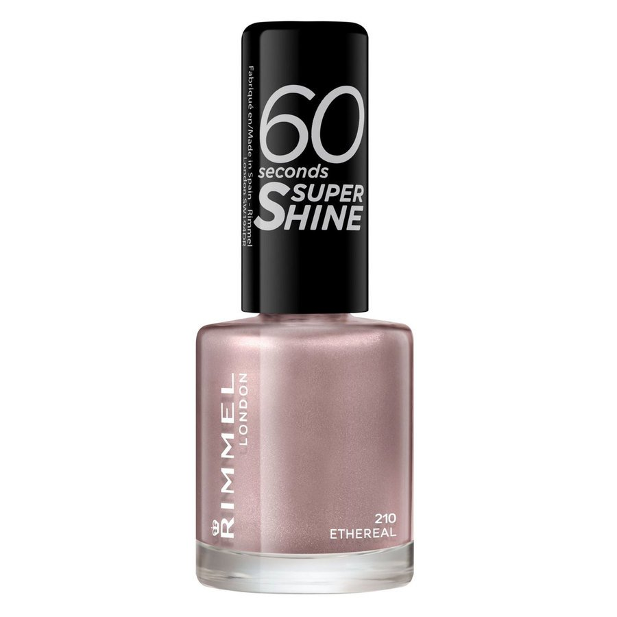 Rimmel London 60 Seconds Super Shine Nail Polish, # 210 Ethereal Nude (8 ml)
