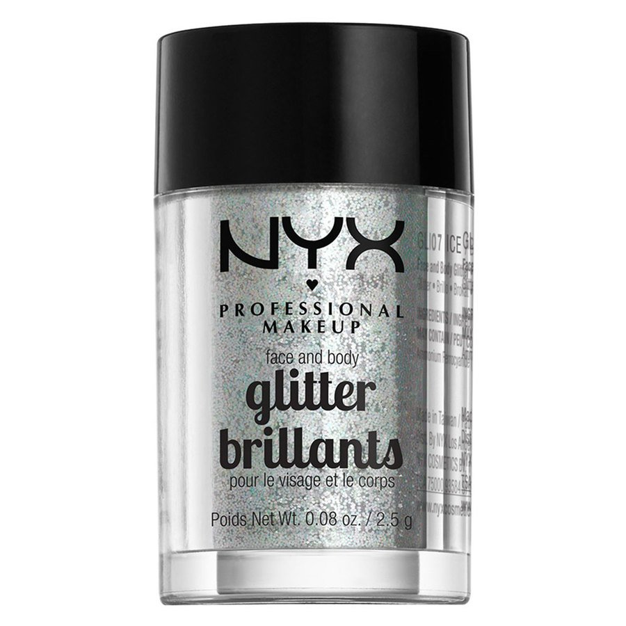 NYX Professional Makeup Face And Body Glitter, Ice GLI07