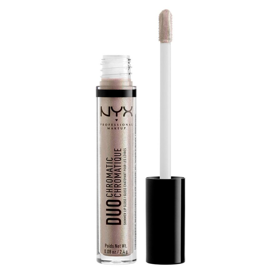 NYX Professional Makeup Duo Chromatic Lip Gloss, Lucid