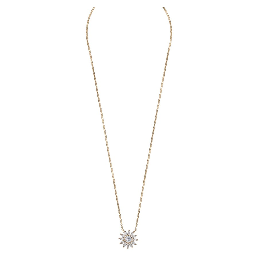 Snö Of Sweden Kathy Small Pendant Necklace, Gold/Clear (42 cm)