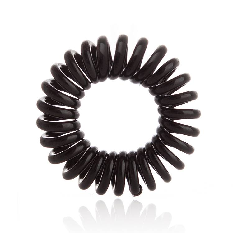Invisibobble 3 Traceless Hair Rings, True Black