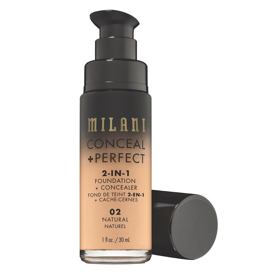 Milani Conceal & Perfect 2-In-1 Foundation + Concealer, Natural (30 ml)