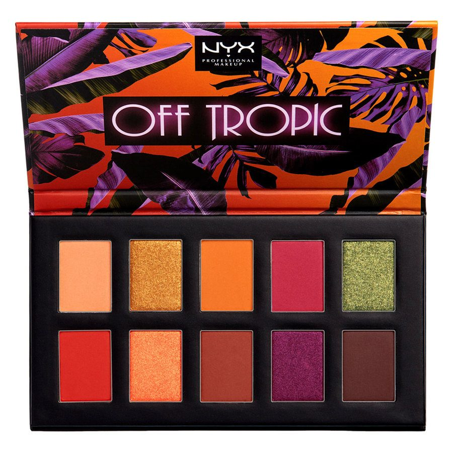 NYX Professional Makeup Off Tropic Shadow Palette, 02 Shifting Sand